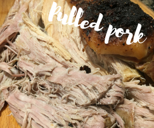 Pulled pork and Mexican sauce recipe and this week's meal plan
