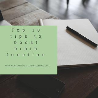 top ten tips to boost brain function