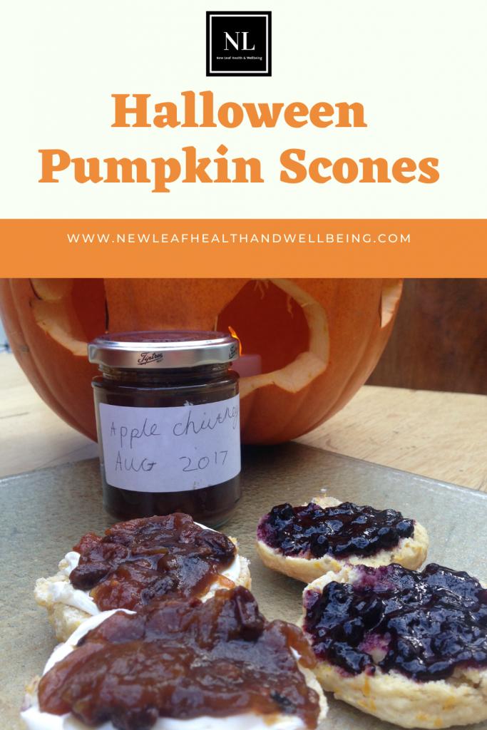 halloween pumpkin scones pin