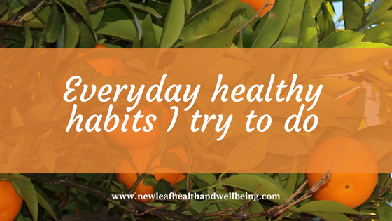 everyday healthy habits