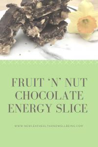 fruit'n'nut chocolate energy slice