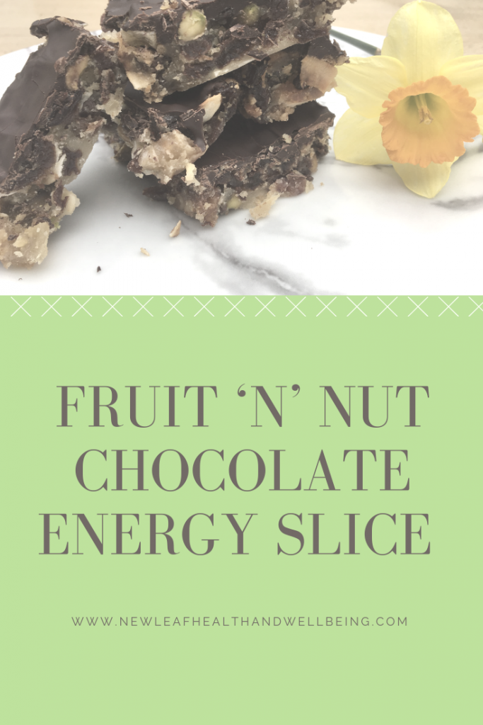 fruit'n'nut chocolate energy slice