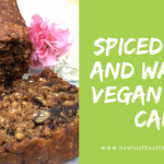 spiced date and walnut vegan loaf cake recipe