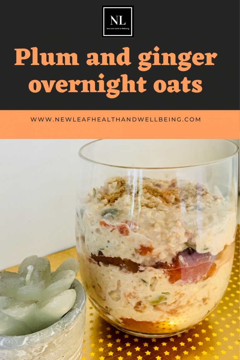 plum and ginger overnight oats