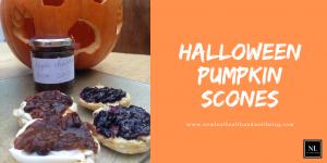 Halloween pumpkin scones