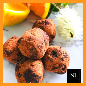 orange and apricot chocolate truffles