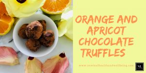 orange and apricot chocolate truffles