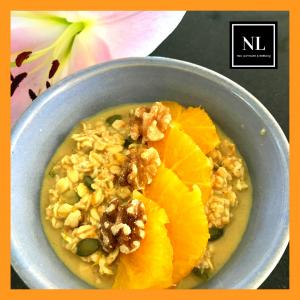 orange turmeric walnut overnight oats